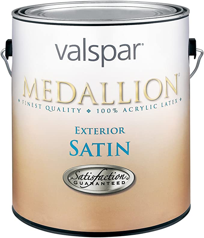1 Quart Satin White Medallion Exterior Latex House Paint Amazon Com