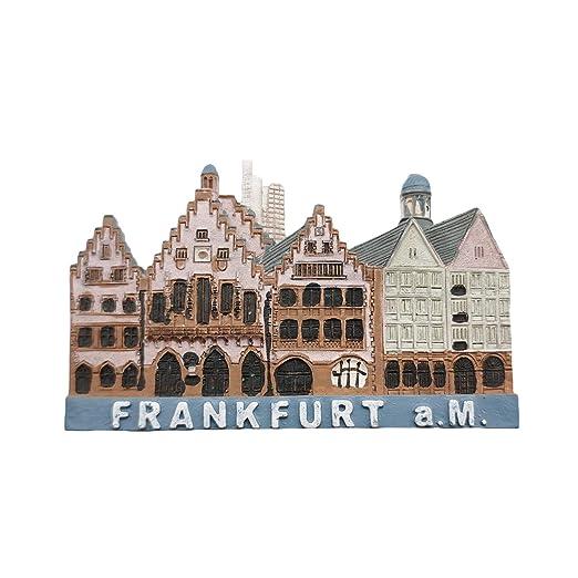 3D Frankfurt Alemania Imán de refrigerador Recuerdos turísticos ...