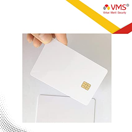 photograph regarding Printable Contact Paper referred to as VMS PVC Card with Chip Make contact with White Inkjet Printable Chip-Card - IC 50 Card (50)