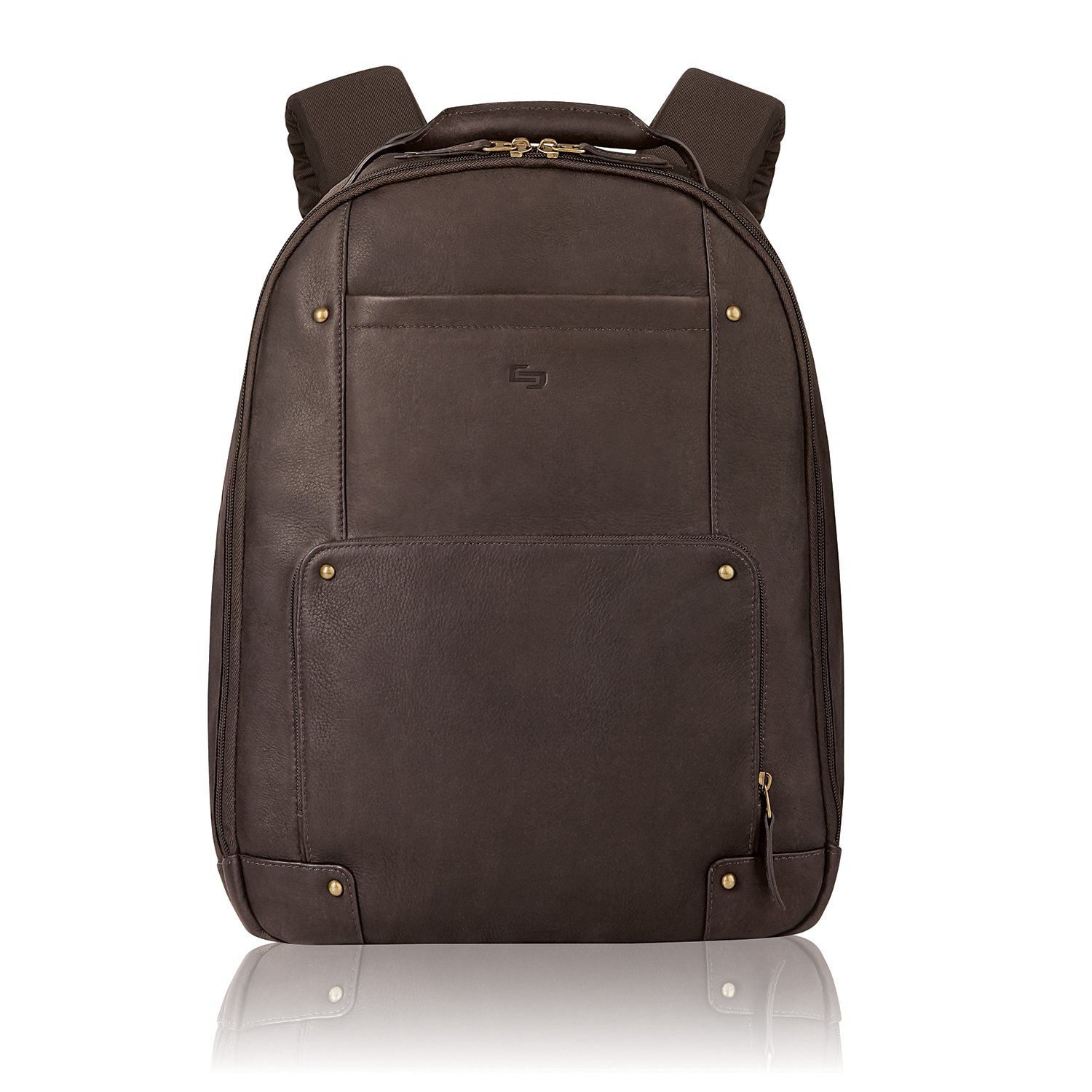 Amazon.com  Solo Reade 15.6 Inch Vintage Columbian Leather Backpack ... 3e3b89788