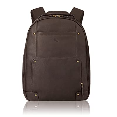 Solo Reade Vintage Leather Backpack. Fully Padded 15.6-Inch Laptop Compartment. Men's or Women's Backpack
