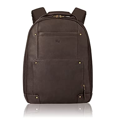Amazon.com | Solo Vintage Colombian Leather Laptop Backpack, Holds ...
