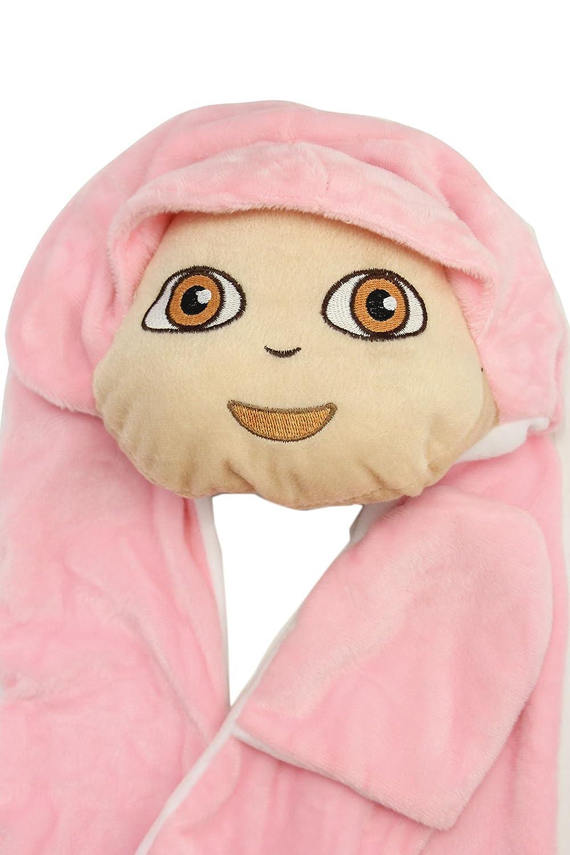 Children Kids Warm Cartoon Animal Hat Mask Scarf Mittens Costume Book Day Week Halloween