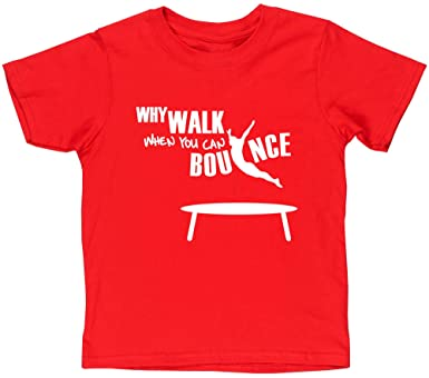 Why Walk When You Can Bounce Trampolining t-shirt fitted short sleeve womens