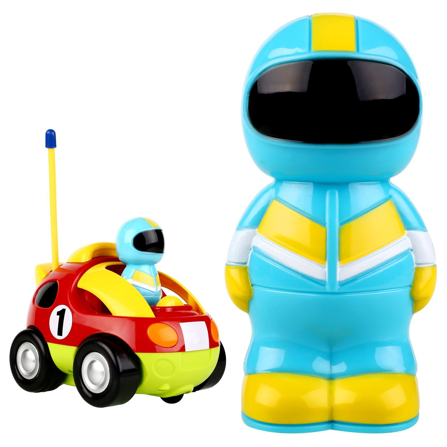 Peradix R/C Race Cartoon Car Radio Control Toy for Toddlers and Kids(Random Color)