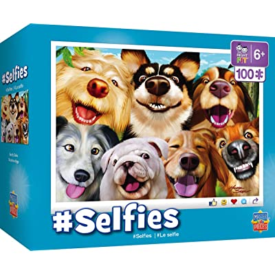 Masterpieces Selfies Jigsaw Puzzle Goofy Grins, 100Piece: Toys & Games