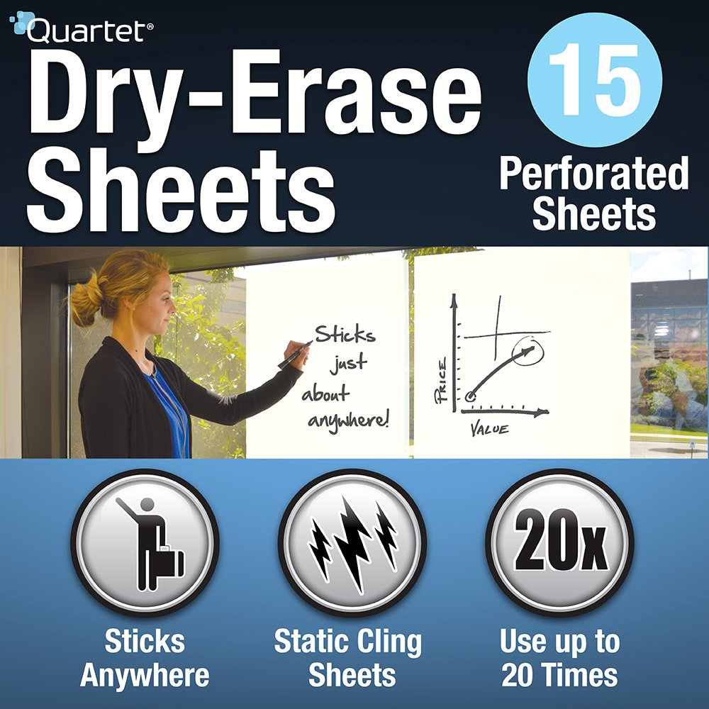 Quartet Dry Erase Sheets, 24-inch x 31 1/2-inch (85563) ACCO Brands