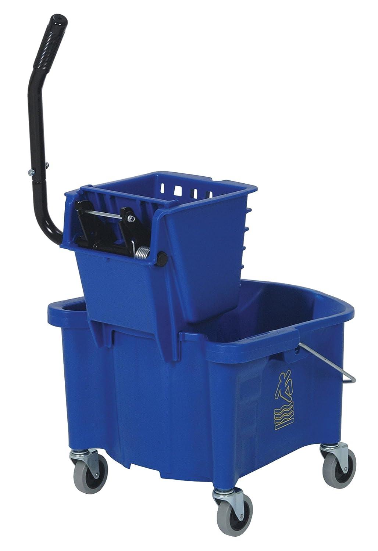 Blue 26 Quart Splash Guard Side-Press Combo Pack Continental 226-312BL Case of 1