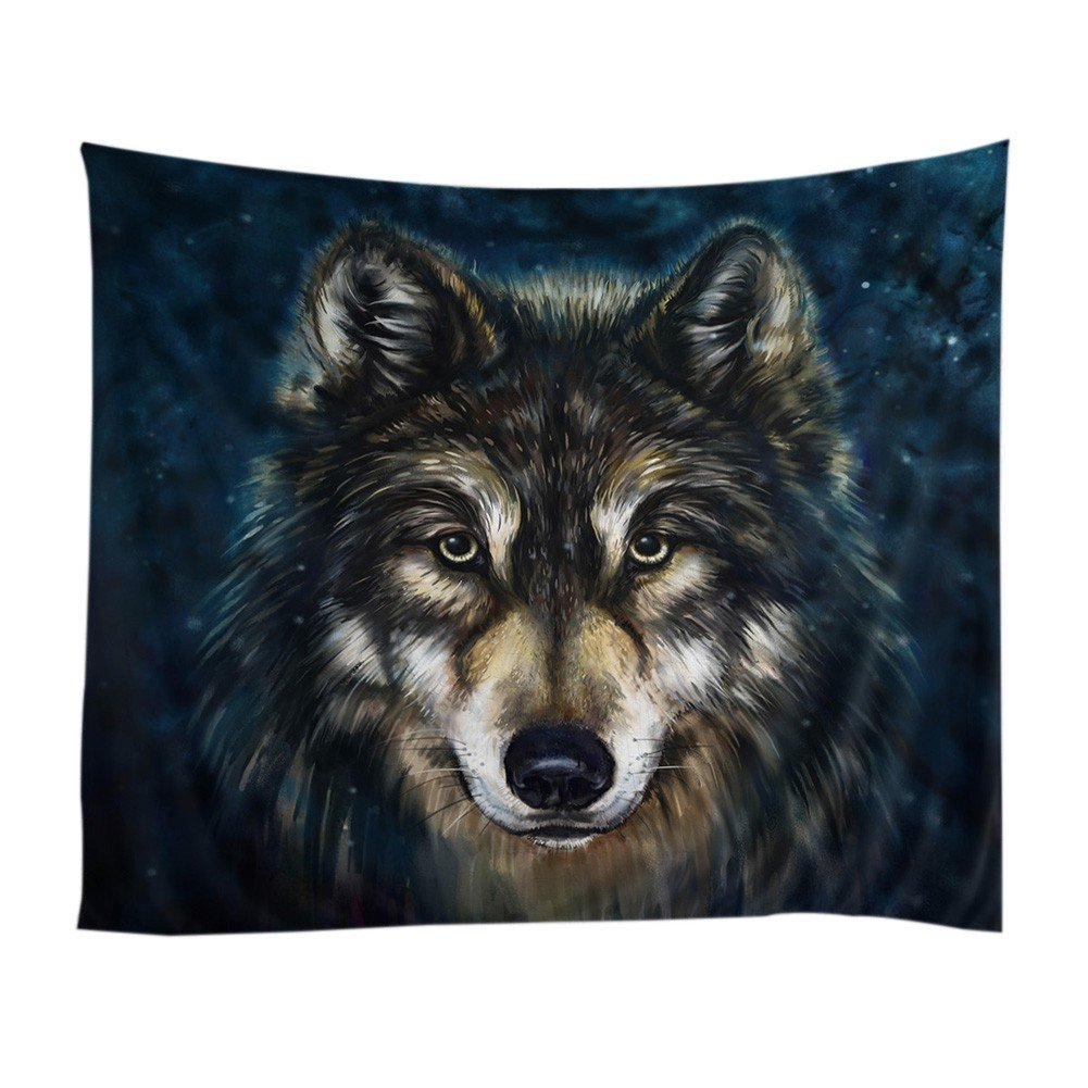 Xinhuaya Realistic Wolf Printed Wall Hanging Tapestry with Romantic Pictures Art Nature Home Decorations for Living Room Dorm Bedroom Decor in 51x60 inches (51 W by 60'' L, Multi 28)