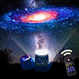 Star Night Lights for Kids, Remote Control Star Projector, with LED Timer, 360°Rotating Planet Night Lighting Lamps…