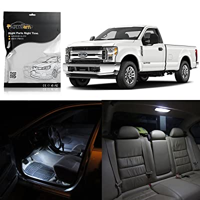 Partsam 8pcs White Map Dome License Plate LED Light Package Kit Replacement for Ford Super Duty F-250 F-350 F-450 2005 & Up: Automotive
