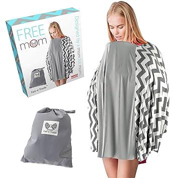 0c8cca4ae2f9e Baby Nursing Cover Poncho Style - Rigid Neckline Breastfeeding Cover  w/Carry Bag | Covers