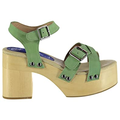 130aa402010 Jeffrey Campbell Womens Peasy Platform Heeled Summer Casual Shoes Sandals  Green NB UK 4 (37