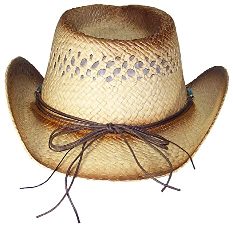 Amazon.com  Tropic Hats Little Kids Paper Straw Cowboy Cowgirl W Band    Buckle (One Size) - Brown  Clothing c96a84b1ae98