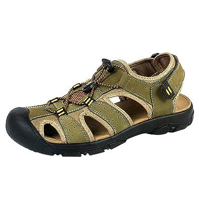 WhiFan Herren Outdoor Sandalen Wandern Sandalen Schnell Trocken Toecap Sommer Schuhe Absturz Baotou Sport-&Outdoorschuhe 5UV1ZS
