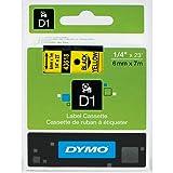 DYMO Standard D1 45018 Labeling Tape ( Black Print on Yellow Tape , 1/2'' W x 23' L , 1 Cartridge)