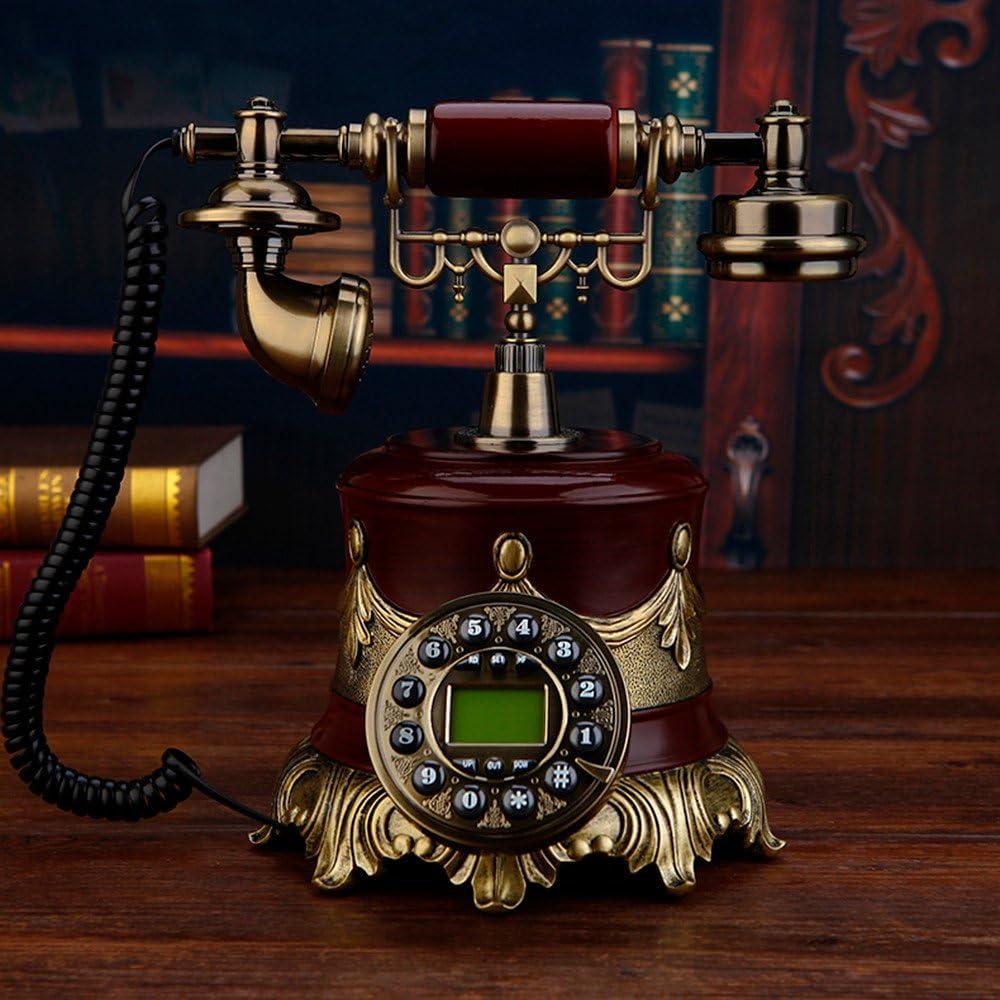 Teléfono Antiguo teléfono Europeo máquina Retro de Moda Creativa Tarjeta de teléfono inalámbrico, un teléfono Antiguo