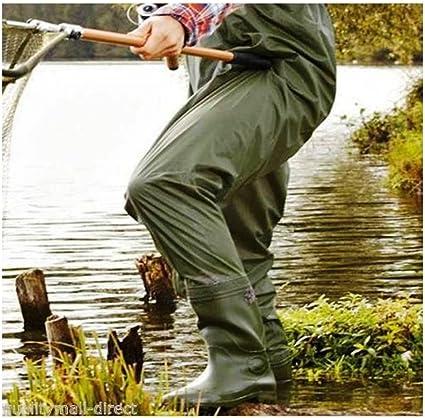 Wathose Teichhose Gummistiefel Wasserdicht Anglerhose Hose Gr L 42//43