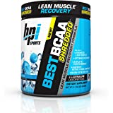 Bpi Sports Best BCAA Shredded Powder, Branched Chain Amino Acids, Caffeine Free Thermogenic Recovery Formula for Lean Muscle Growth, Blue Raz, 25 Servings, 9.7 Ounce