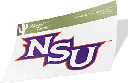 Sticker - 00009 Northwestern State University NSU Demons NCAA Vinyl Decal Laptop Water Bottle Car Scrapbook