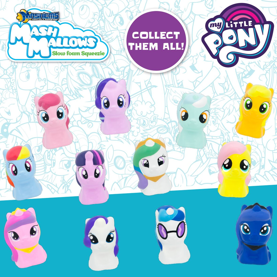 5 Sealed Bag x My Little Pony Mashems Mash Mallows Series 1