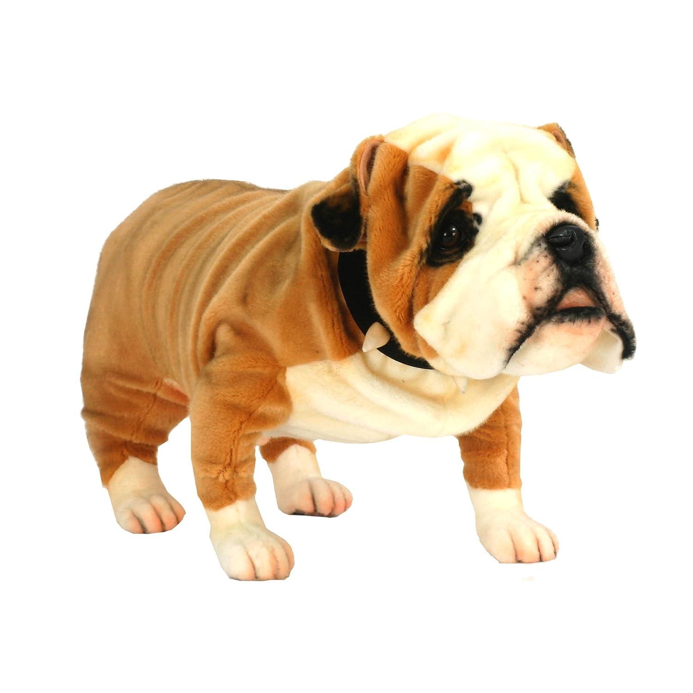 Amazon Hansa British Bulldog Collectible Plush Tan White 30