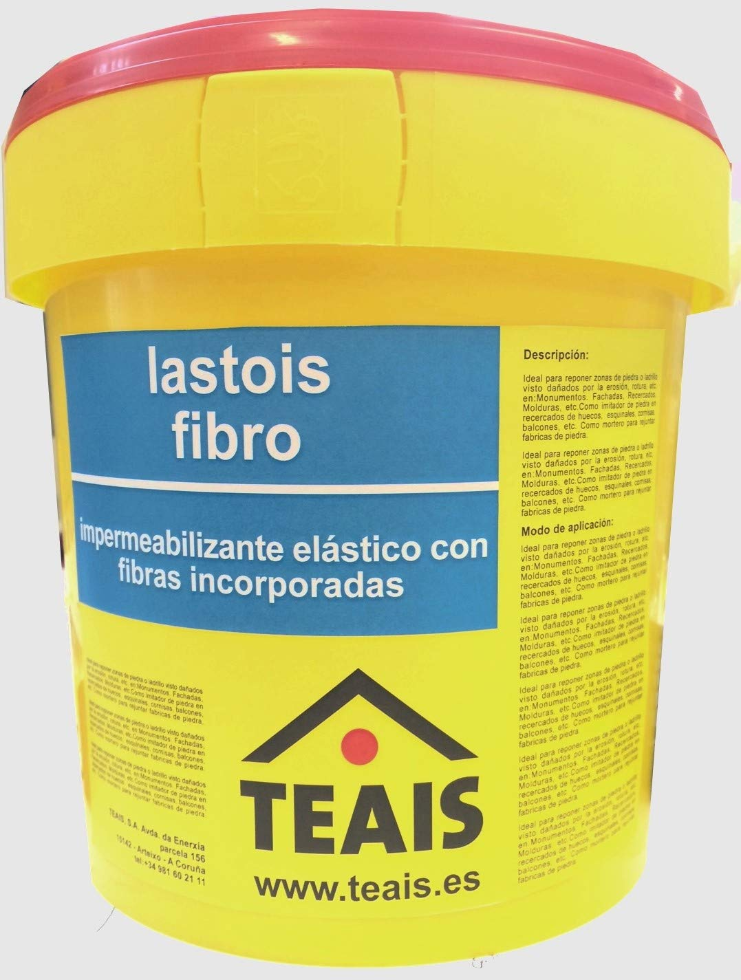 LASTOIS FIBRO IMPERMEABILIZANTE CON FIBRAS PARA CUBIERTAS (1 Kg ...