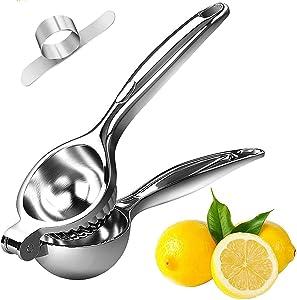 KEKEGO Lemon Squeezer Juicer High Quality Lemon Squeezer Stainless Steel Lime Squeezer Citrus Handheld Manual Juicers (with Orange Peeler)