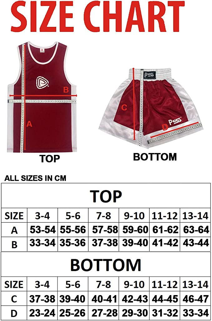 Uniforme de boxe boxe Wrap Gants de boxe 1004/6-oz couleur bordeaux Premier Uniforme de boxe pour enfant Lot de 3/Pi/èces