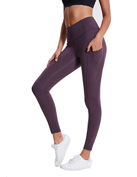 95913fbb681fca Zess Premium Nylon Reflective Hi-Waist Second-Skin Fitness Yoga Leggings  with Side Pocket