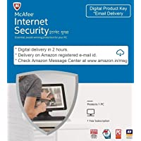 McAfee Internet Security - 1 User, 1 Year (email download) (Email Delivery in 2 hours- No CD)