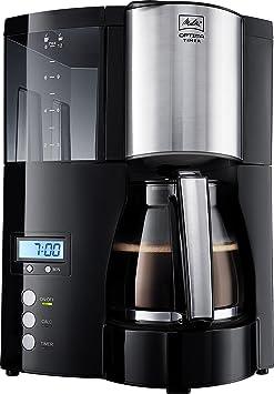 Melitta 100801 BK Optima Timer - Cafetera de goteo, color negro