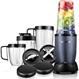 Aicook Blender, 15-Piece Smoothie Blender Mixer, Personal Blender Single Serve, Mixing Ice Crusher, High Speed Blender for Smoothies and Shakes, 780W, Grey