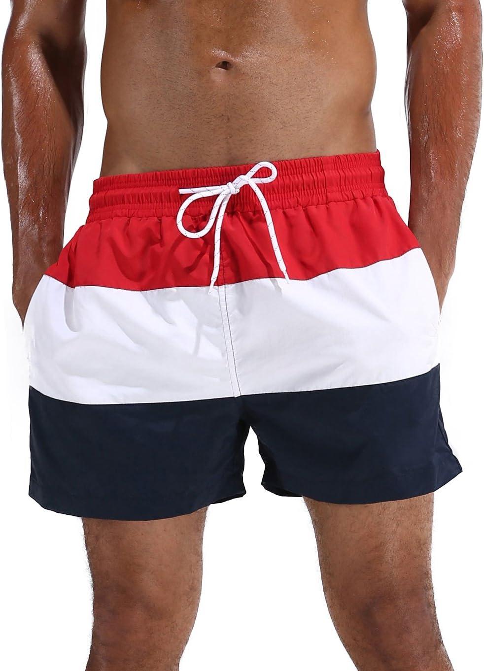 Arcweg Bañador Hombre Chico Playa Poliéster Pantalon Corto Hombre Deporte Secado Rápido Bañadores Natacion Ligero Moda Shorts Tallas Grandes 38-50