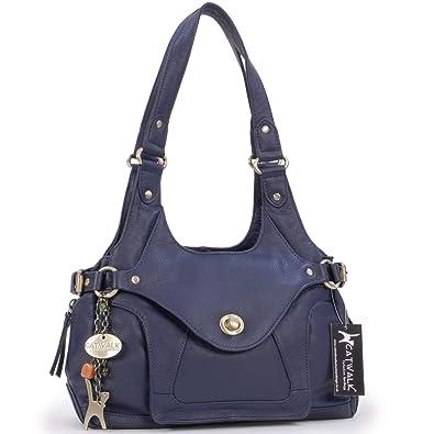 8258680113d0 Sac à main Roxanna Catwalk Collection - Bleu Marine  Amazon.fr ...