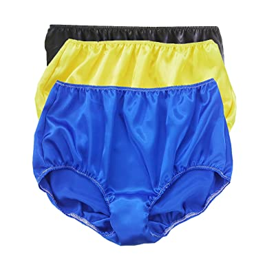 Knickers LUPS87 BLAC Yellow Blue Lots 3 pcs New Satin Panties Briefs Women  Ladies Lingerie ( b39e870dbd5d