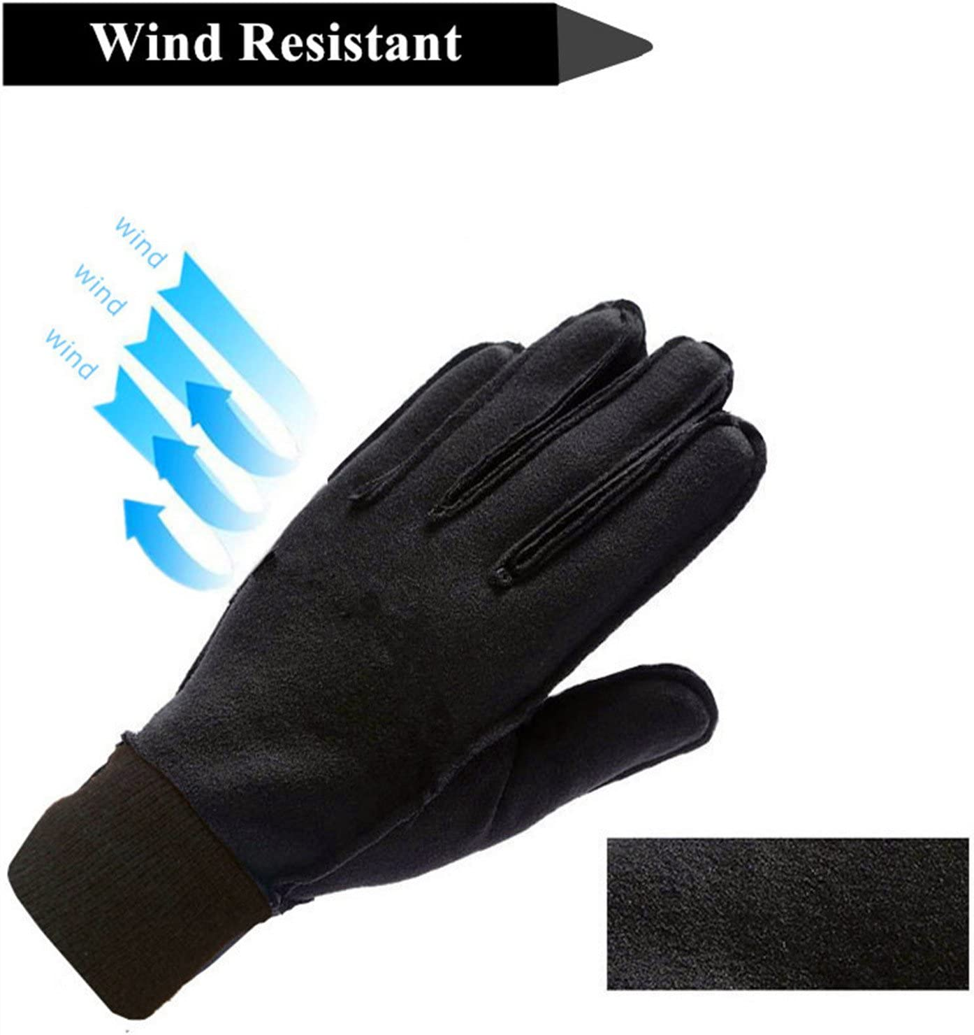 1Pair Outdoor Winter Men Sport Bike Driving Windproof Warm Leather Gloves Gifts