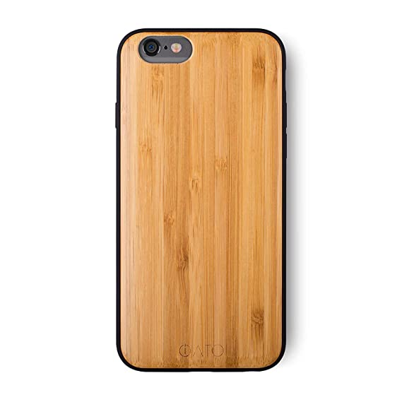3c205bad6a iATO iPhone 6 Plus / 6s Plus Wooden Case - Real Bamboo Wood Grain Premium  Protective Shockproof Slim Back Cover - Unique, Stylish & Classy Thin Snap  on ...