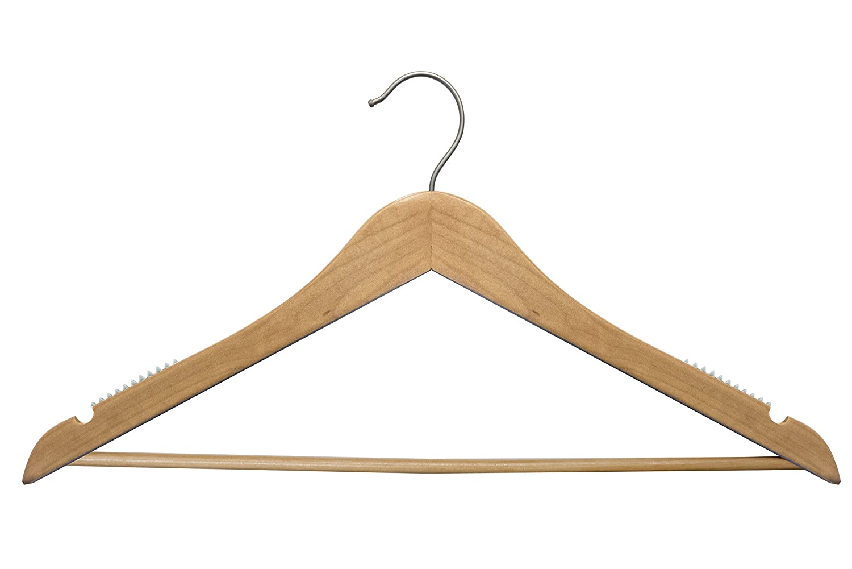 20017WBC Natural Top Suit Wood Hanger 100 piece Pack 17 Monogramed Custom Hangers NAHANCO Personalized Wooden Hangers