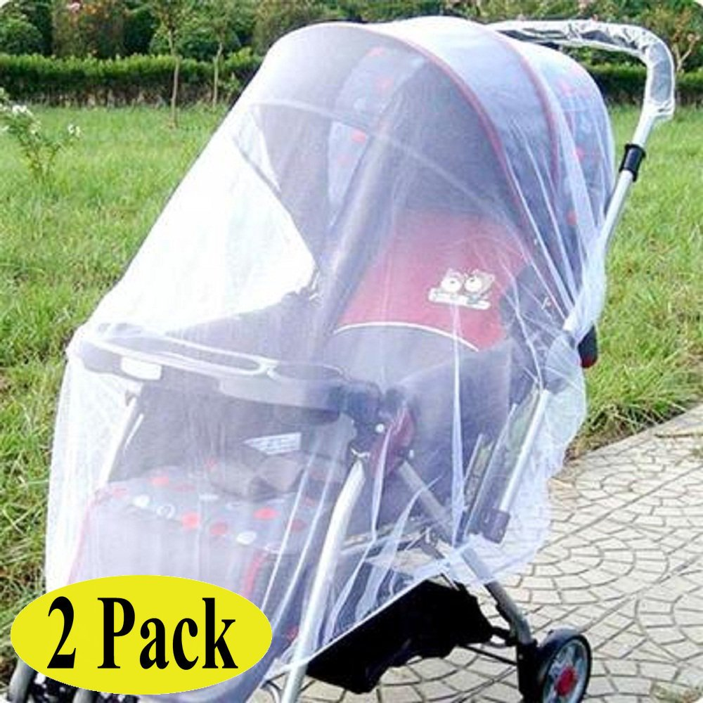 Swity Home 2 Pack Baby Mosquito Net for Strollers, Car Seats, Cradles, White BabyTCWZB