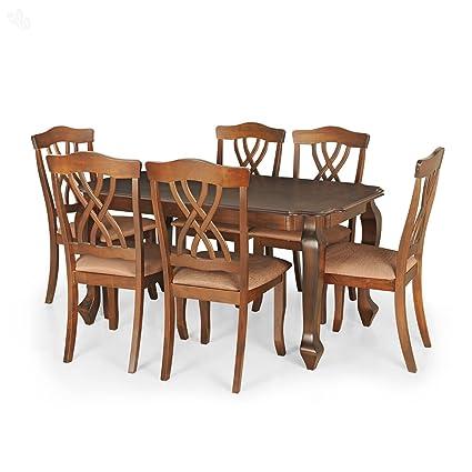 Royaloak Spyker Six Seater Dining Table Set (Walnut)