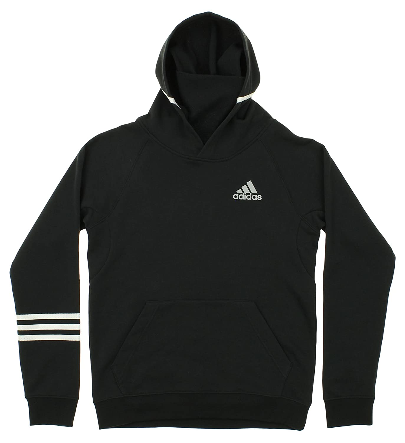 adidas Youth Streetball Pullover Hoodie Black/White Small (8)