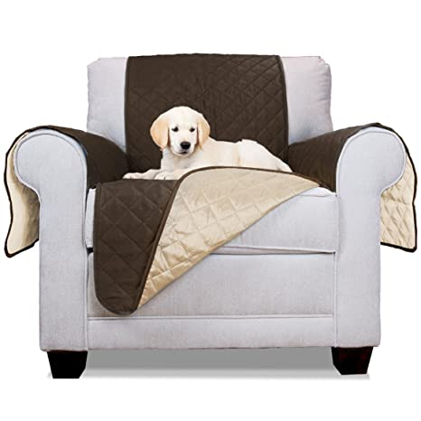 FurHaven Reversible Water-Resistant Pet Furniture Cover Chair Protector Espresso/Clay  sc 1 st  Amazon.com & Amazon.com : FurHaven Reversible Water-Resistant Pet Furniture Cover ...