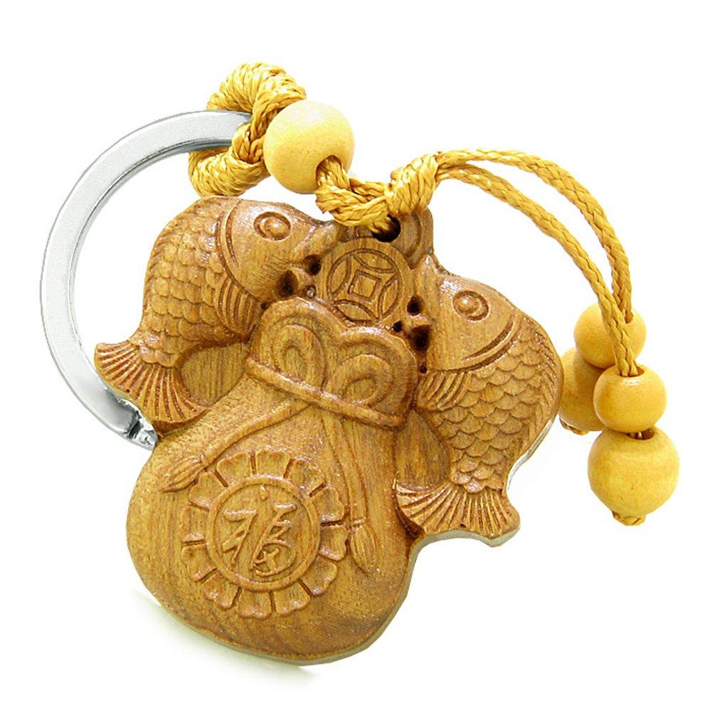 Amazon.com: Amuleto Pez de la suerte doble bolsa de dinero y ...