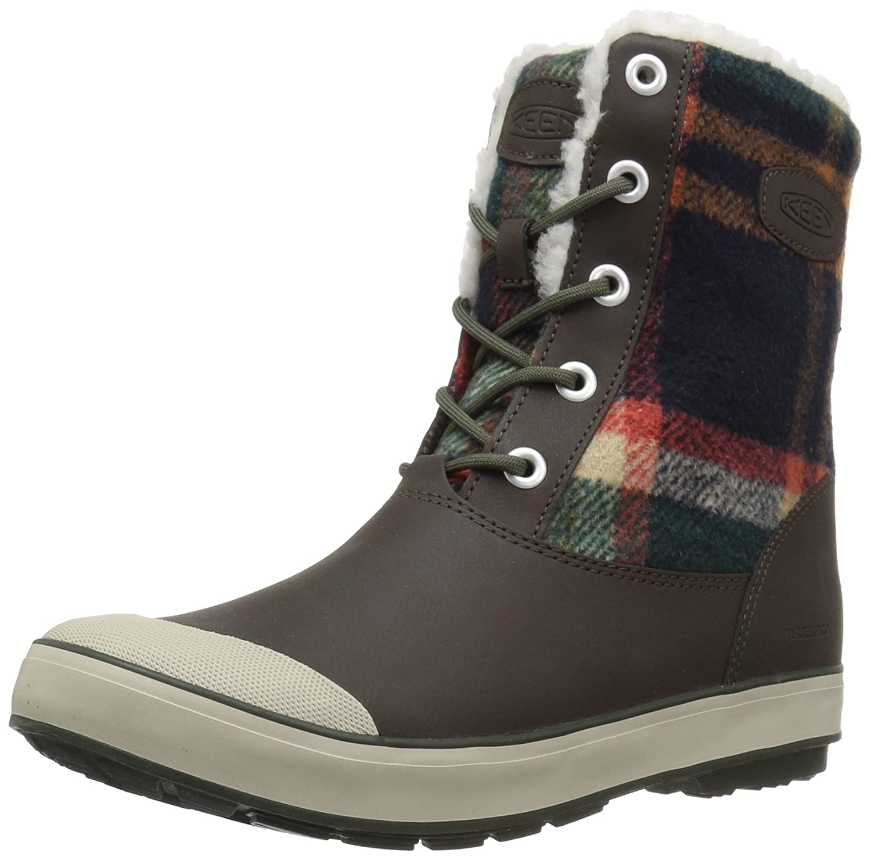 KEEN Women's Elsa Waterproof Winter Boot B078H56W9C 38-39 M EU / 8 B(M) US|Coffee Bean