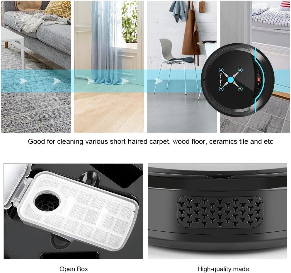 Zerodis Robot Aspirador, Limpiadores robóticos Limpiador USB Recargable Mini automático Smart Clean Robot Limpiador de Suelos Herramienta de Limpieza por aspiración(Negro): Amazon.es: Hogar