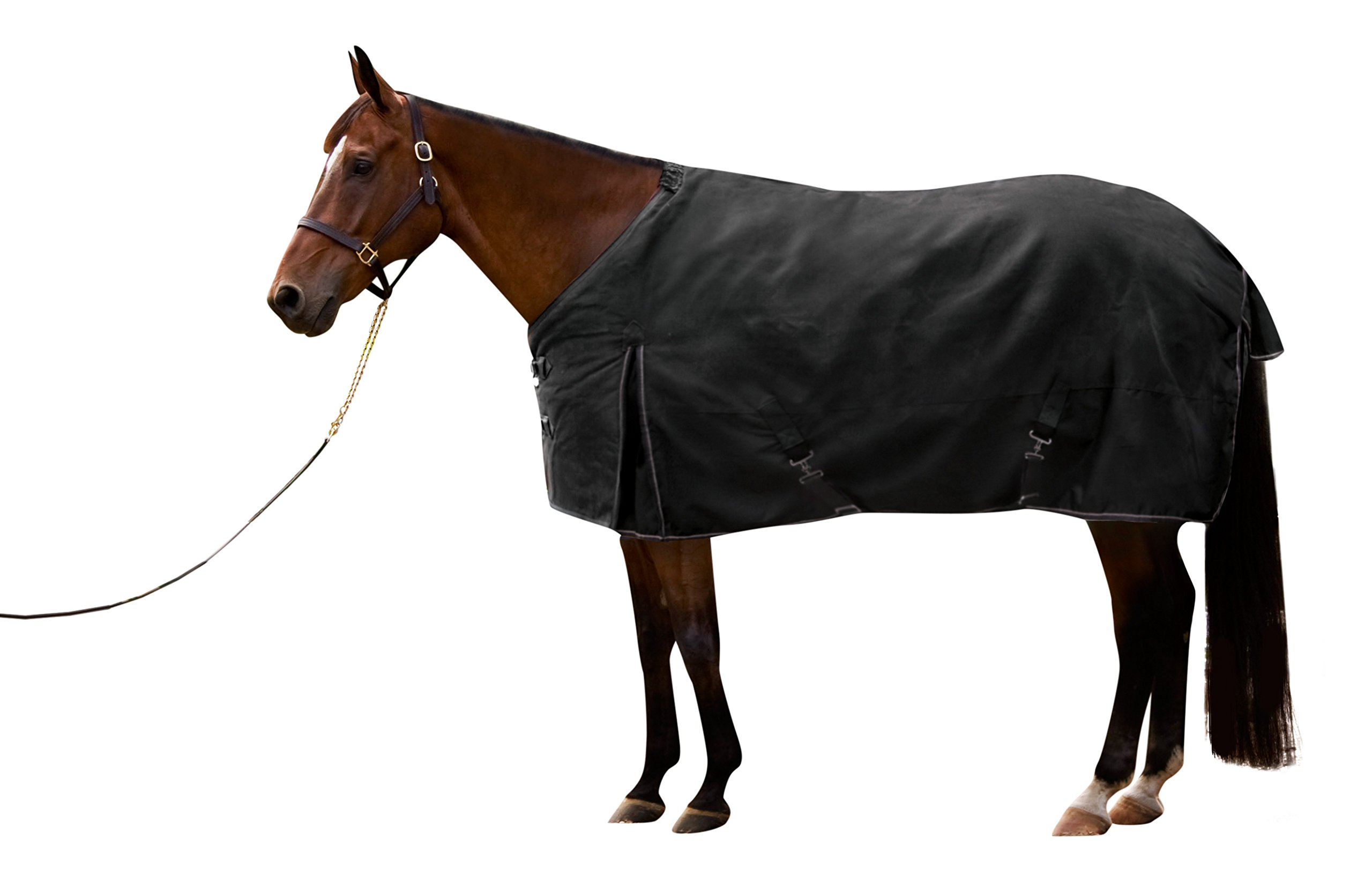 Kensington KPP Kens-i-Tech Light Weight Turnout Rug   Durable, Highly Water Resistant and Breathable   Black, Size 78