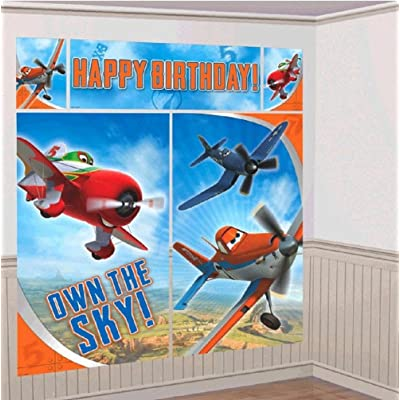 Disney Planes 2 Scene Setters Wall Decorating Kit Party Background: Toys & Games