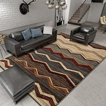 . Amazon com  Simple Modern Nordic Style Rug  Luxury Business Floor