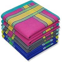 Men's Soft Cotton Handkerchiefs with Assorted Color 6 Piece Gift Set by Zenssia